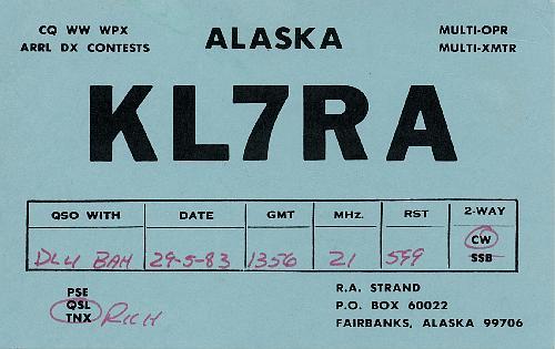 KL7RA